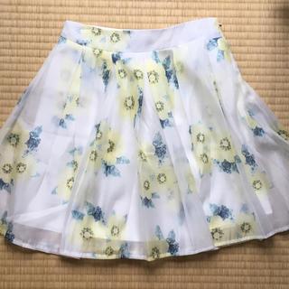 花柄♡スカート(ひざ丈スカート)