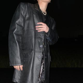 ジョンローレンスサリバン(JOHN LAWRENCE SULLIVAN)の✔︎80s vintage leather tailored jacket(テーラードジャケット)