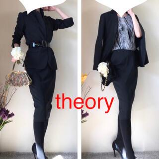 theory - 美品!theory セオリー スカート スーツ 通年 サイズ4 黒 L 冠婚葬祭