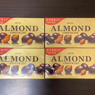 ロッテ アーモンドチョコレート 4個(菓子/デザート)