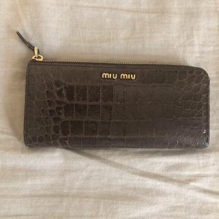 miumiu - miumiu ミュウミュウ 長財布