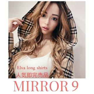 GYDA - 新品 MIRROR9 Elva long shirts  チェックシャツコート