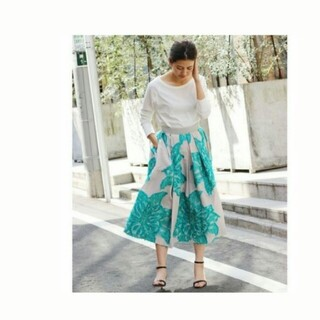 イエナ(IENA)のrose様専用 フラワージャガードスカート(ロングスカート)