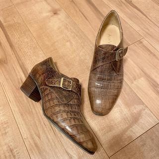 イエナ(IENA)のA de Vivre レザーモンクシューズ(ローファー/革靴)