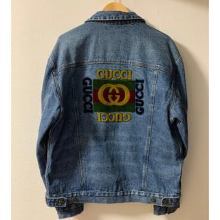 Gucci - 【GUCCI】パッチ付き オーバーサイズ ロゴ デニムジャケット グッチ 50