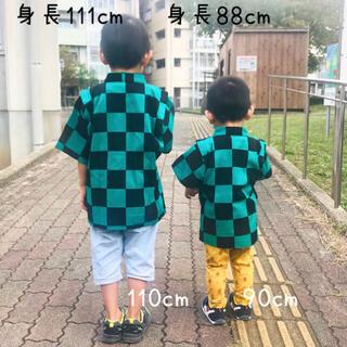 たんじろう柄 甚平 110〜120cm 市松模様