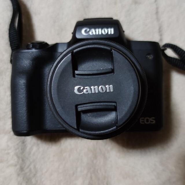 Canon(キヤノン)のCANON ミラーレス一眼 EOS kiss m 本体と標準レンズ スマホ/家電/カメラのカメラ(ミラーレス一眼)の商品写真