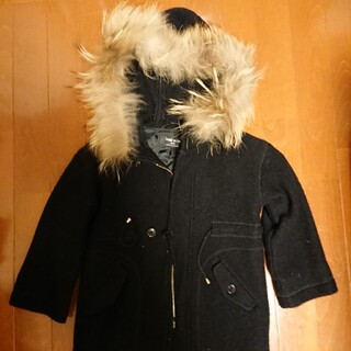コムサイズム(COMME CA ISM)の子供服、ファー付きコート、コムサ、サイズ110(コート)