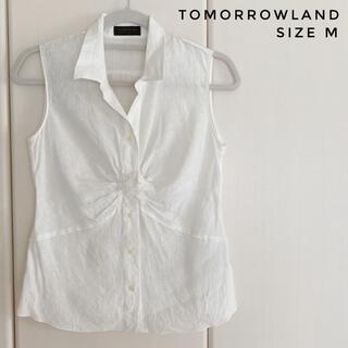 TOMORROWLAND - TOMMROWLAND ノースリーブリネンシャツ