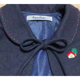 familiar - familiarファミリア ケープ ネイビー 90 ポンチョ羽織りマントボレロ