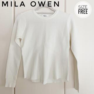 ミラオーウェン(Mila Owen)のMila Owen ワッフル長袖プルオーバー(カットソー(長袖/七分))