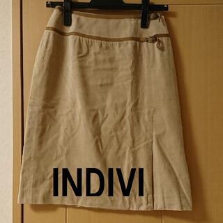 インディヴィ(INDIVI)の★格安 INDIVI(インディヴィ)タイトスカート ベージュ★(ひざ丈スカート)