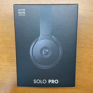 ビーツバイドクタードレ(Beats by Dr Dre)のBeats by Dr Dre SOLO PRO BLACK(ヘッドフォン/イヤフォン)