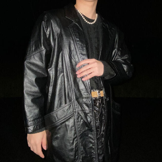 ジョンローレンスサリバン(JOHN LAWRENCE SULLIVAN)の80s vintage leather tailored jacket(テーラードジャケット)