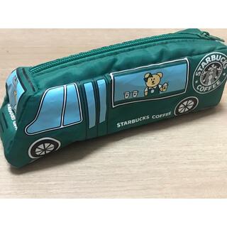 スターバックスコーヒー(Starbucks Coffee)の旧スタバロゴ バス型ポーチ(ペンケース/筆箱)