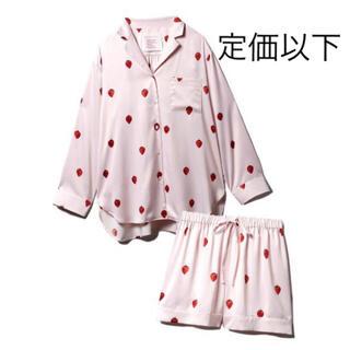 ジェラートピケ(gelato pique)のジェラートピケ PARIYA イチゴサテンシャツ&ショートパンツ セットアップ(ルームウェア)