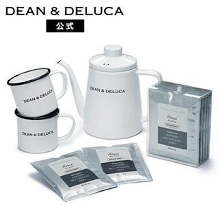 ディーンアンドデルーカ(DEAN & DELUCA)の【新品未開封】DEAN&DELUCA ホーローケトル&マグカップセット(調理道具/製菓道具)