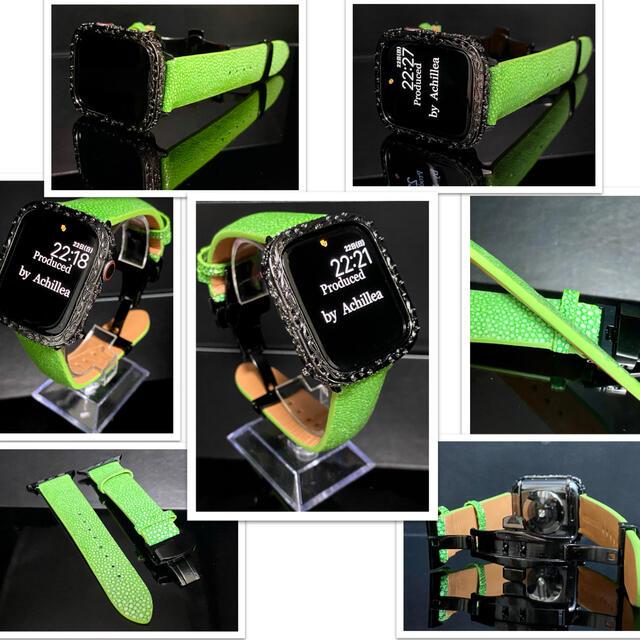 アップルウォッチカスタムカバーベルトセット 全面彫刻×別注スティングレイ メンズの時計(腕時計(デジタル))の商品写真