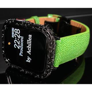 アップルウォッチカスタムカバーベルトセット 全面彫刻×別注スティングレイ(腕時計(デジタル))