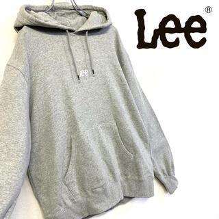 リー(Lee)の美品 Lee スウェット 刺繍ロゴ パーカー メンズM グレー(パーカー)