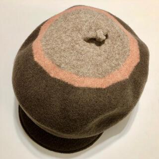 オーバーライド(override)のoverride ベレー帽 グレージュ(ハンチング/ベレー帽)