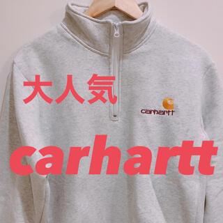 carhartt ハーフジップパーカー L