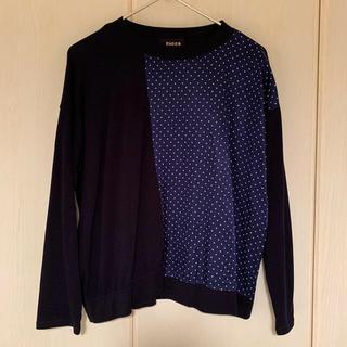 ズッカ(ZUCCa)のズッカ zucca ドット 濃紺 デザインセーター 新品同様(ニット/セーター)