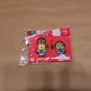 ジャル(ニホンコウクウ)(JAL(日本航空))の未使用 JAL×USJ 非売品 ミニオンオリジナルパスケース(キャラクターグッズ)