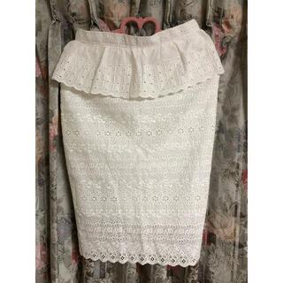 Lochie - vintage レースペプラムスカート