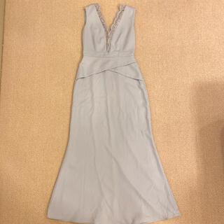 ビーシービージーマックスアズリア(BCBGMAXAZRIA)のbcbgmaxazria ロングワンピース ドレス 美品 0サイズ(ロングドレス)