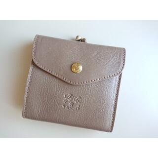 イルビゾンテ(IL BISONTE)の新品 イルビゾンテ がま口 二つ折り財布 グレー トルトラ(財布)