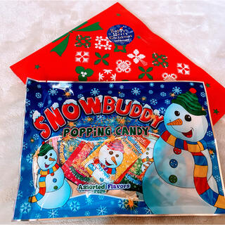 SNOW BUDDYポッピングはじけるキャンディ  Xmas用ラッピング袋付き♡(菓子/デザート)