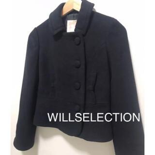 WILLSELECTION - WILLSELECTION ショートコート 黒 ネイビー