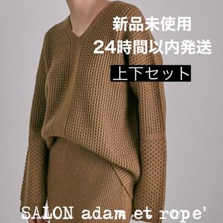 アダムエロぺ(Adam et Rope')の新品未使用/アダムエロペ/Vネックニット+リブタイトスカート(ニット/セーター)