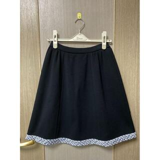 ルネ(René)のrene ツイード スカート ニット 34(クリーニング済)(ひざ丈スカート)