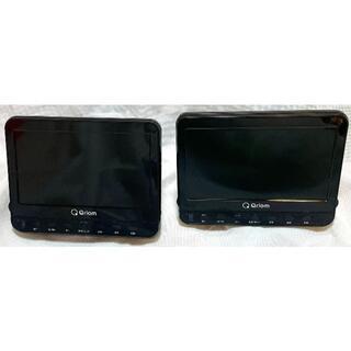 ヤマゼン(山善)の山善 DVDプレーヤー  ヘッドレストモニター 2個 CPD-M101TMD B(車内アクセサリ)