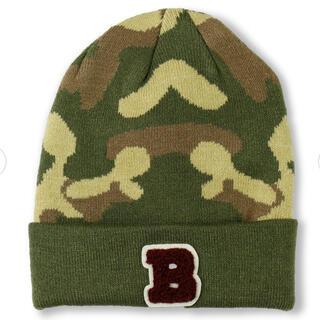 Branshes - ニット帽 ベビー キッズ 帽子 迷彩 カモフラ ブランシェス S 48-50