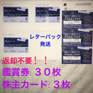 【返却不要】東京楽天地 株主優待 30枚 + 株主カード3枚※男性名義(邦画)
