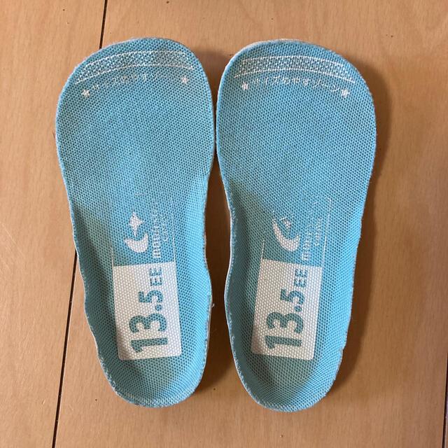 ムーンスター キャロット スニーカー 13.5  ネイビー 速乾 保育園 キッズ/ベビー/マタニティのベビー靴/シューズ(~14cm)(スニーカー)の商品写真