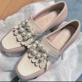 スワンキス(Swankiss)のSwankiss 靴 シューズ  ローファー ピンク Msize(ハイヒール/パンプス)