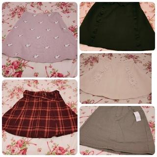 エブリン(evelyn)のスカート1点500円!5枚セット♡evelyn♡dazzlin♡tocco(ミニスカート)