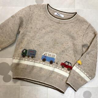 familiar - ♡familiar100cm❤︎車刺繍ニット♡