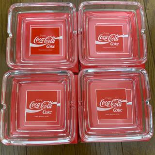 コカコーラ(コカ・コーラ)のコカコーラ灰皿 4点セット レトロ coca cola (灰皿)