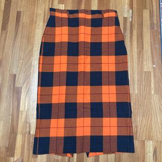 ZARA - ZARA オレンジチェック柄スカート