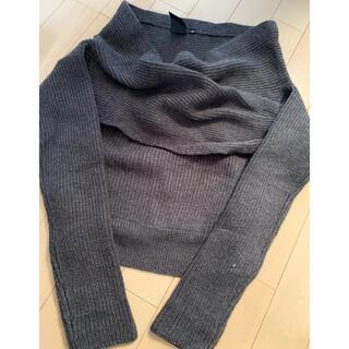 ダブルスタンダードクロージング(DOUBLE STANDARD CLOTHING)の☻☻田丸麻紀さん着用 double standard カシュクールニット 38(ニット/セーター)