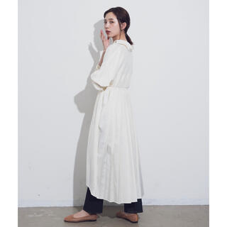 Aunt Marie's - 【新品】AUNT MARIE'S バックプリーツロングシャツワンピース