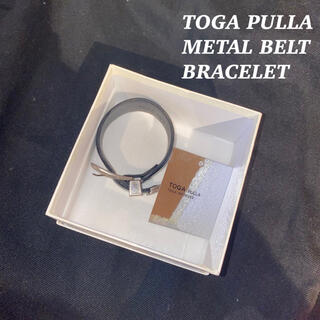 トーガ(TOGA)のTOGA PULLA トーガ プルラ メタル バックル ベルト ブレスレット 黒(ブレスレット/バングル)