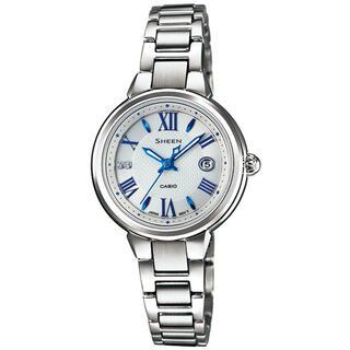 カシオ(CASIO)のカシオ SHEEN ソーラーサファイア 腕時計 シルバー(腕時計)