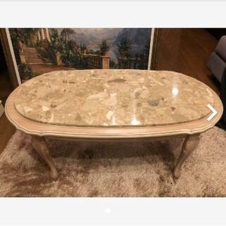 Francfranc - 大理石テーブル 猫脚 ロココ クラシック ホワイト