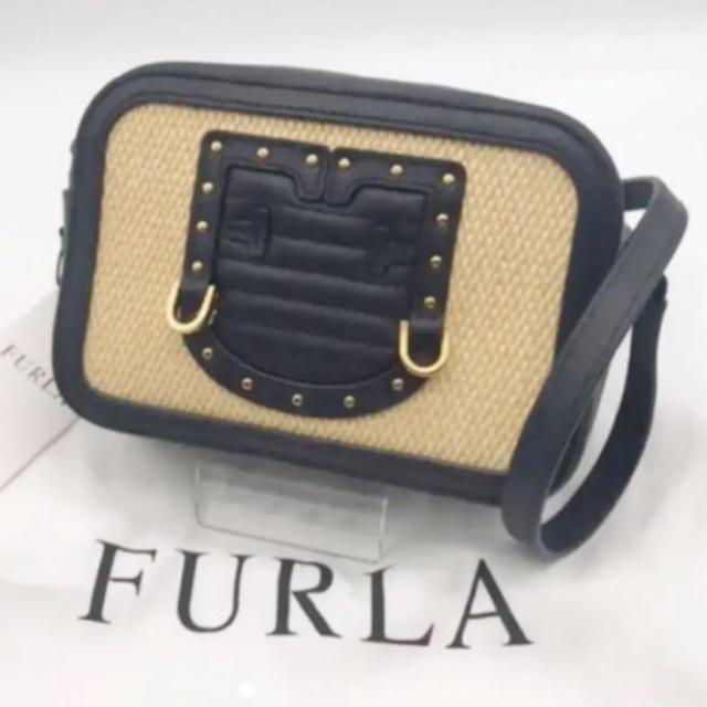 Furla(フルラ)の【新品・未使用】フルラ ポシェット ショルダーバッグ ブラック・ベージュ レディースのバッグ(ショルダーバッグ)の商品写真